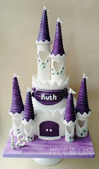 18th castle cake (Made In Cake) Tags: castle cake purple 18th