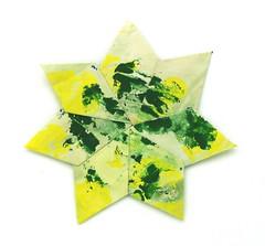 Fujimoto heptagon Rosette 36 front (Pliages et vagabondages) Tags: star origami rosette décoration étoile fujimoto