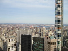 View from the Top of the Rock 2015 NYC 5142 (Brechtbug) Tags: from birthday park new york city nyc roof winter urban snow cold building rock 30 skyline cityscape afternoon view top january center east covered tall rockefeller avenue ge rca 2015 432 01252015