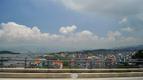 Returning to Hanoi over the Bai Chay Bridge, Ha Long City, Vietnam