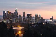 Los Angeles Skyline (Albert Jafar) Tags: california longexposure losangeles nightphoto losangelesskyline downtownlosangeles