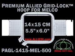 Melco Embroidery Hoops - 14 x 15 cm (5.5 x 6.0 inch) Rectangular Premium Allied Grid-Lock Plastic Embroidery Hoop / Frame for Melco Tubular Embroidery Machines - 500 mm (19.7 inch) Arm Spacing / Sew Field (alliedintl) Tags: hoop logo grid frames embroidery chest frame hoops left gridlock allied melco