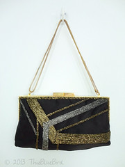 Vintage Handbag Purse (thisbluebird) Tags: purse handbag vintagehandbag framebag beadedbag vintagepurse vintageclothesthisbluebird