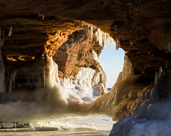Ice Caves 2015 (diogenic) Tags: winter lake snow ice sandstone superior contax caves cave wi icicles apostleislands southshore icecaves sonnar apostleislandsicecaves contaxg90mmf28