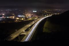Folkestones Highway (bartoszpawlikowski) Tags: road light sea canon highway long exposure shoot hill 18 55 f11 nigh 650d