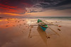 Once upon a time ... (zakies) Tags: longexposure reflection boat borneo late sabah kualapenyu eveninghours leefilter proglass nikond700 sabahsunset zakiesphotography malaysianlanscape zakiesphoto