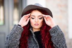 coat&sneakers (6) (Rania Kelesidou) Tags: red girl look hat fashion hair bag grey outfit shoes burgundy coat makeup style sneakers nike redhead jeans zara asos
