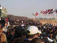 Large Crowd at International Festival of the Sahara, Douz