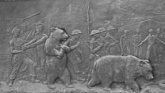 Wojtek the bear 07 (byronv2) Tags: wojtek bear statue sculpture army military worldwartwo secondworldwar wwii ww2 history allanbeattieherriot poland polish war memorial warmemorial blackandwhite blackwhite bw monochrome plaque frieze relief