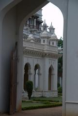 Through the arch (VinayakH) Tags: india gardens royal palace hyderabad royalpalace nizam telangana chowmahallapalace
