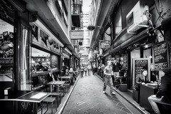 Centre Place (Bill Thoo) Tags: street blackandwhite monochrome sony australia melbourne victoria lane centreplace 14mm saymang a7rii