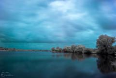 (klgfinn) Tags: cloud infrared ir lake landscape sky skyline summer tree water