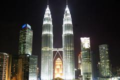 Twin Towers (KatieSh) Tags: malaysia travel nikond40 nikon kulalumpur kl petronastowers twintowers nightphotography holiday