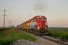 TPW 3878 West (BSTPWRAIL) Tags: tpw toledo peoria western rail road railway way railroad railamerica america gp38 cruger illinois local grain extra load loaded loads locomotive gw genesee wyoming washington