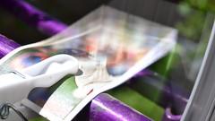 '76 (mitchell_dawn) Tags: bike bicycle wheel cards purple spokes clothespeg cigarettecards macromondays