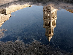 Tower in a Puddle (RJAB2012) Tags: reflection water pool puddle cathedral upsidedown croatia 100v10f diocletian split