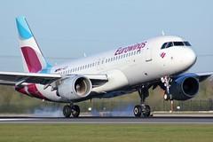 D-AIZT (AnDrEwMHoLdEn) Tags: manchester airport a320 manchesterairport egcc eurowings 05r
