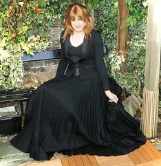 Permanent Pleats (Amber :-)) Tags: black long skirt crossdressing tgirl transvestite sunray