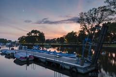 Pontoon Sunset (Nick_Miles) Tags: sunset christchurch summer sky water night clouds boats evening nikon long exposure dusk quay d7000