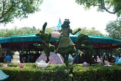 Magic Kingdom - Disney World Orlando - Fantasyland - Mad Hatter's Tea Party (jrozwado) Tags: usa topiary florida northamerica teapot waltdisneyworld madhatter magickingdom teaparty fantasyland aliceinwonderland