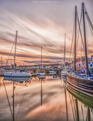 Essence (blairmchattiephotography) Tags: sunset water scotland boat nikon long exposure harbour fife outdoor serene elie d7000