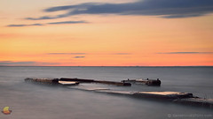 Old Pier, Lake Erie, Derby, NY (DTD_4825) (masinka) Tags: shoreline lakeshore lake erie colors sunset old pier derby ny newyork concrete rubble longexposure photography danielnovakphoto etbtsy closeup