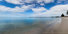 Winter Beauty (Images by Ann Clarke) Tags: jetty tumbybay beach calm clouds foreshore ocean panorama winter