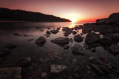 The right moment (Leonardo Del Prete) Tags: camera longexposure sunset red sea sun bay tramonto mare sole rosso adriaticsea baia lungaesposizione baiaflaminia