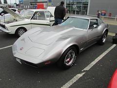 Chevrolet Corvette Stingray C3 MCY110M (Andrew 2.8i) Tags: cardiff classic car club show chevrolet gm gmc chevy corvette vette c3 american sports sportscar coupe classics cars all types transport worldcars welsh wales uk unitedkingdom