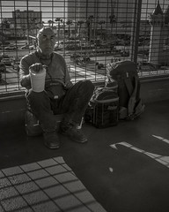 Another Day  -  Las Vegas (fotographis) Tags: leica city blackandwhite sunrise blackwhite cityscape lasvegas homeless poor streetphotography begging thehumancondition leicam leicam240