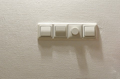 Light switches (Jan van der Wolf) Tags: map93135 lichtknoppen white wit monochroom monochrome wall muur texture pattern patroon minimalism lightswitches schakelaars lichtschakelaars knoppen