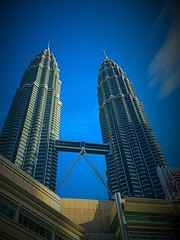Having this as my workplace for 3 days ...is motivational #shotoniphone6 #twintowers (gauranggada) Tags: shotoniphone6 twintowers