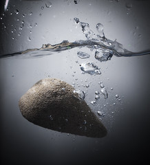 Pumice splash (nigeljohnwade) Tags: water pumice splash bubble plop underwater
