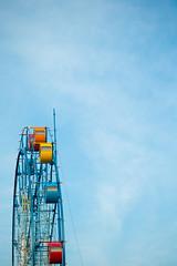 Ferris wheel (Kenichi Nobusue) Tags: 1dx ef100mm ferriswheel sky blue