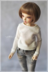 Cottoncandy Pullover in BabyCream (Red Ribboned Dolls) Tags: bjd abjd msd slimmsd 14 fairyland mnf minifee chloe auri redribbon redribboneddolls doll dolls dollfie dollclothes handmade etsyshop miniatures