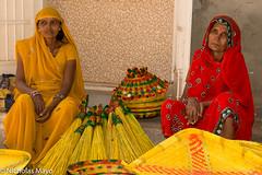 Two Bhangi Women At Market (Nick Mayo/RemoteAsiaPhoto) Tags: gujarat selling market india kawant
