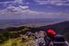 Shipka - Bulgaria (vasencetosladurkova) Tags: cap mountains rock shipka bulgaria sunglasses lake dam sky clouds view city