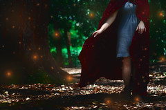 #ProjectNeverland: #RedRidingHood (TheJennire) Tags: photography fotografia foto photo colours colores cores light luz fireflies magic dream dreamy ethereal fantasy book fairytale littleredridinghood redridinghood red fashion style young tumblr conceptualphotography projectneverland movie cinema film dark girl woods forest hood legs