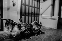 Sleeping Man (Ben Duursma) Tags: sleeping man street photography resting sleep blackandwhite black white bw bangkok thailand ben duursma august summer heat selling seller products nikon d7000 night nighttime cart streetphotography youngphotographers young photographers