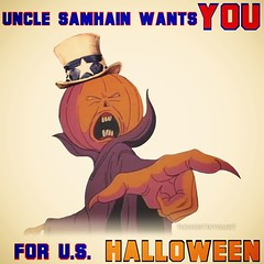 Uncle Samhain (the ghost in you) Tags: ghostbusters therealghostbusters samhain horror halloween trickortreat pumpkins jackolantern cartoons unclesam unclesamwantsyou october fall autumn