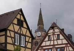 Ansbach, Germany (Runemaker) Tags: ansbach bavaria bayern germany deutschland stgumbertus kirche church architecture fachwerk halftimbered building sky clouds
