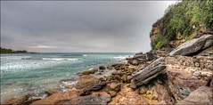 Look and you don't see (JustAddVignette) Tags: australia beach clouds cloudysunrise early freshwaterbeach landscapes morning newsouthwales nosun northernbeaches ocean overcast panorama rain rocks seascape seawater sky sydney water