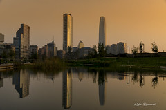 Chile World Trade Center (kikerencoret) Tags: reflection skyscrapper