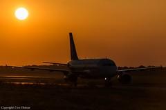 HAJ Sunrise (U. Heinze) Tags: haj hannoverlangenhagenairporthaj eddv planespotting nikon d610 nikon28300mm sonnenuntergang