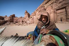 Beduin in Petra, Jordan (M. Khatib) Tags: petra jordan treasury nabateans rock desert arab beduin donkey tourism ancient unesco heritage