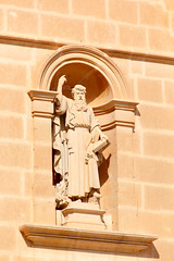 Parish Church of the Assumption of the Blessed Virgin Mary into Heaven (RunningRalph) Tags: beeld church kerk malta mgarr statue limarr