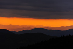 Dramatic Smoky Mountains Sunset from The Blue Ridge Parkway (sidsata) Tags: sun 70200mm f28 vrii nikon d750 smoky mountains silhouette contrast dusk clouds weather sunbeams blueridge nikon70200mmf28vrii blueridgeparkway smokymountains layers lightroom vsco vscofilmpacks velvia100f