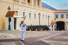 Protecting The Palace (mikederrico69) Tags: monarch king palace prince monaco guard soldier visit europe monarchy canon army monte carlo residence travel vacation summer stand grimaldi family museum history fortress courtuard state apartments throne room carabiniers du traditional ritual