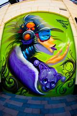 Two Sides of Vegas (Thomas Hawk) Tags: lasvegas nevada usa unitedstates unitedstatesofamerica vegas graffiti mural streetart