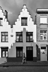 Building Shadows, Bruges (Ian Bramham) Tags: crowsteppedgable walls shadows architecture bruges belgium street photo ianbramham